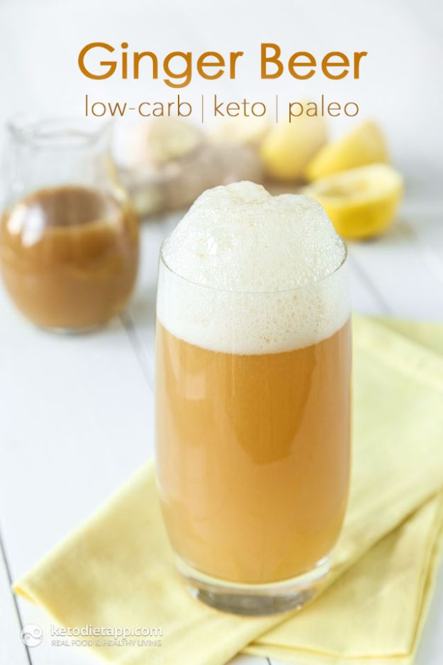 Best Homemade Beer Recipes - Homemade Sugar-Free Ginger Beer - Easy Homebrew Drinks and Brewing Tutorials for Craft Beers Made at Home - IPA, Summer, Red, Lager and Ales - Instructions and Step by Step Tutorials for Making Beer at Home http://diyjoy.com/homemade-beer-recipes
