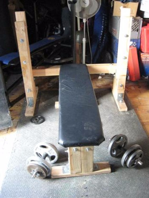 DIY Exercise Equipment Projects - Homemade Weight Lifting Bench - Homemade Weights and Strength Training Projects - How To Build Simple and Easy Fitness Equipment, Yoga Mats, PVC Pipe Ideas for Butt Workouts, Strength Training and Do It Yourself Workouts At Home t