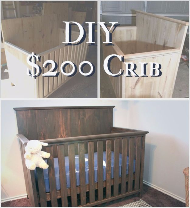 DIY Ideas for Newborn - How To Build a Crib for $200 - Do It Yourself Projects for the New Baby Boy or Girl - Nursery and Room Decor, Gear and Products, Safety Ideas and Other Practical Items Make Great DIY Baby Gifts