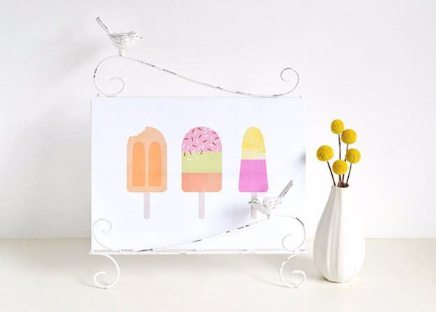 Best Free Printables For Your Walls - Icy Treats Printable Art - Free Prints for Wall Art and Picture to Print for Home and Bedroom Decor - Crafts to Make and Sell With Ideas for the Home, Organization #diy