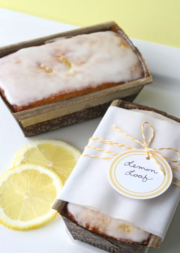 DIY Wedding Favors - Lemon Loaf - Do It Yourself Ideas for Brides and Best Wedding Favor Ideas for Weddings - Step by Step Tutorials for Making Mason Jars, Rustic Crafts, Flowers, Small Gifts, Modern Decor, Vintage and Cheap Ideas for Couples on A Budget Outdoor and Indoor Weddings http://diyjoy.com/diy-wedding-favors