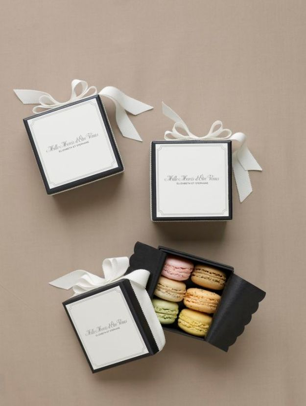 DIY Wedding Favors - Macaroons Wedding Favors - Do It Yourself Ideas for Brides and Best Wedding Favor Ideas for Weddings - cheap wedding favor ideas #wedding #diy