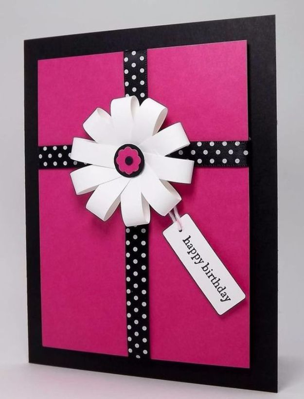 DIY Birthday Cards - Make A simple Birthday Card - Easy and Cheap Handmade Birthday Cards To Make At Home - Cute Card Projects With Step by Step Tutorials are Perfect for Birthdays for Mom, Dad, Kids and Adults - Pop Up and Folded Cards, Creative Gift Card Holders and Fun Ideas With Cake #birthdayideas #birthdaycards