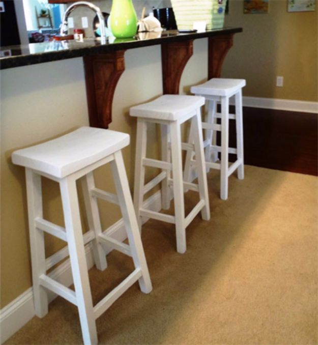 diy barstools - Make Your Own Bar Stools - Easy and Cheap Ideas for Seating and Creative Home Decor - Do It Yourself Bar Stools for Modern, Rustic, Farmhouse, Shabby Chic, Industrial and Simple Classic Decor #barstools #diy