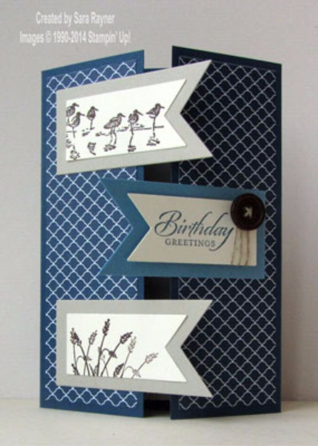 DIY Birthday Cards - Masculine Birthday Card - Easy and Cheap Handmade Birthday Cards To Make At Home - Cute Card Projects With Step by Step Tutorials are Perfect for Birthdays for Mom, Dad, Kids and Adults - Pop Up and Folded Cards, Creative Gift Card Holders and Fun Ideas With Cake http://diyjoy.com/diy-birthday-cards