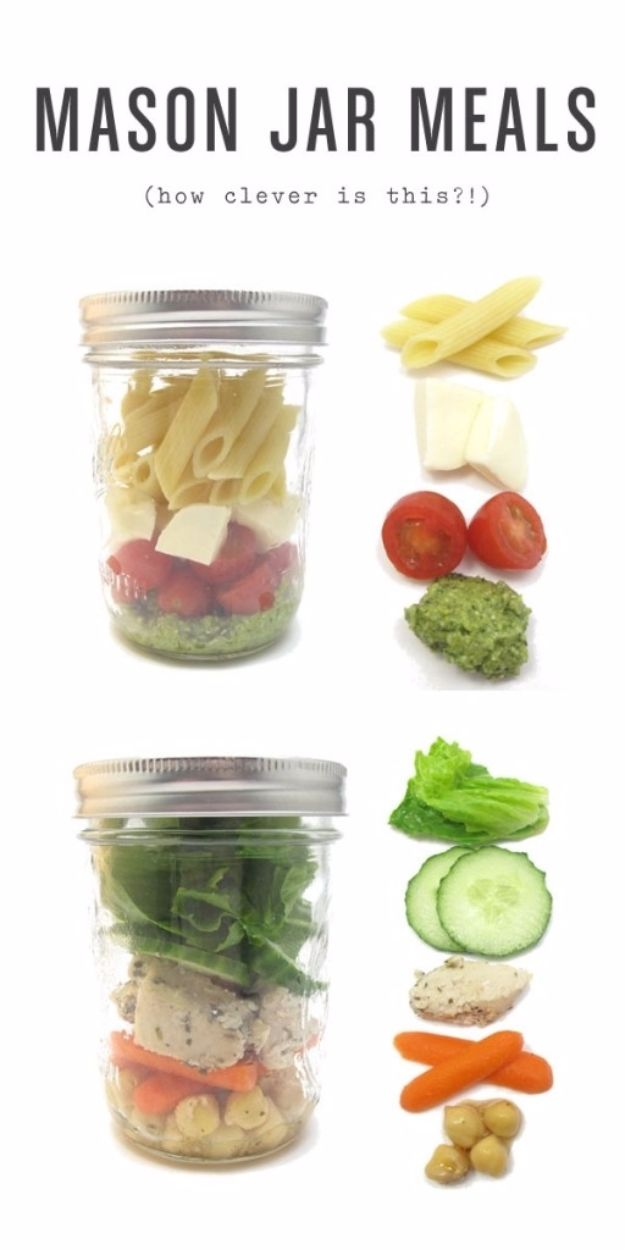 DIY Picnic Ideas - Mason Jar Meals - Cool Recipes and Tips for Picnics and Meals Outdoors - Recipes, Easy Sandwich Wraps, Blankets, Baskets and Carriers to Make for Fun Family Outings and Romantic Date Ideas - Mason Jar Drinks, Snack Holders, Utensil Caddy and Picnic Hacks