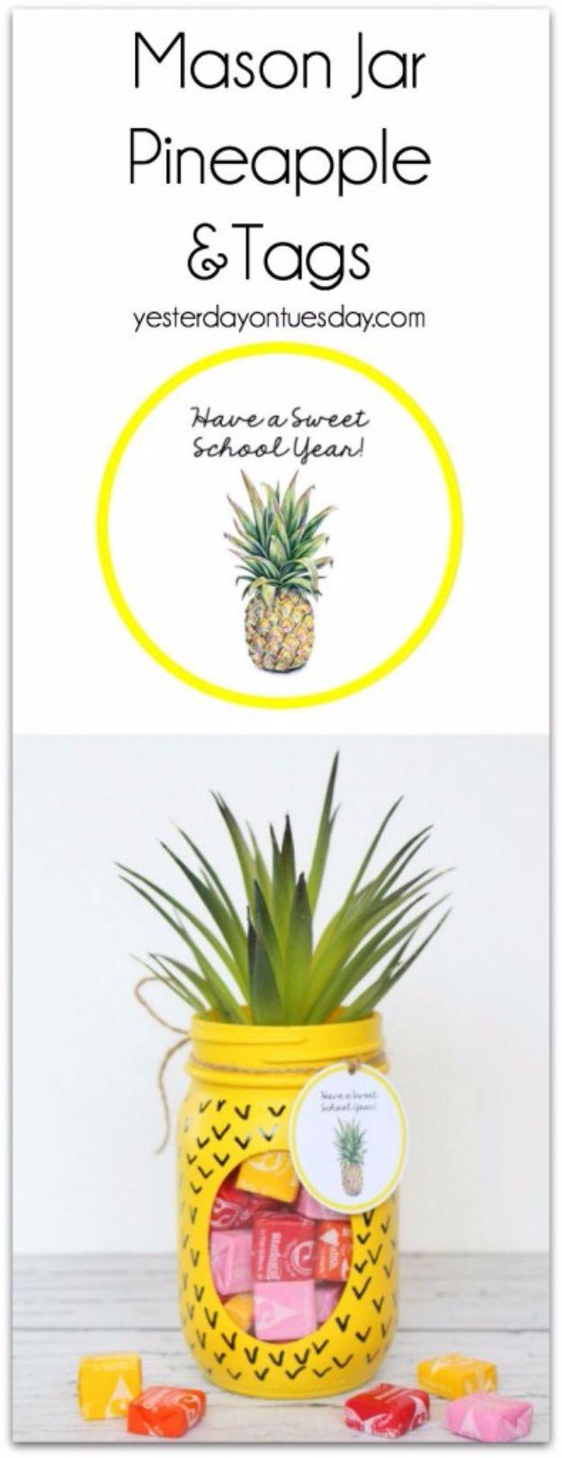 Free Printables for Mason Jars - Mason Jar Pineapple And Tags - Best Ideas for Tags and Printable Clip Art for Fun Mason Jar Gifts and Organization#masonjar #crafts #printables