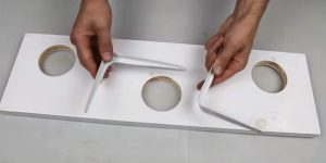 He Drills Holes In A Wood Shelf But What He Puts In The Holes Will Surprise You (Brilliant!)