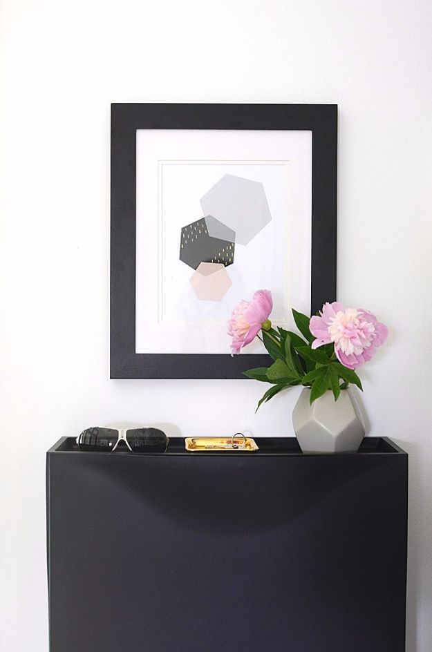 Free Printables For Your Walls - Modern Hexagon Art - Best Free Prints for Wall Art and Picture to Print for Home and Bedroom Decor - Ideas for the Home, Organization - Quotes for Bedroom and Kitchens, Vintage Bathroom Pictures - Downloadable Printable for Kids - DIY and Crafts by DIY JOY http://diyjoy.com/free-printables-walls