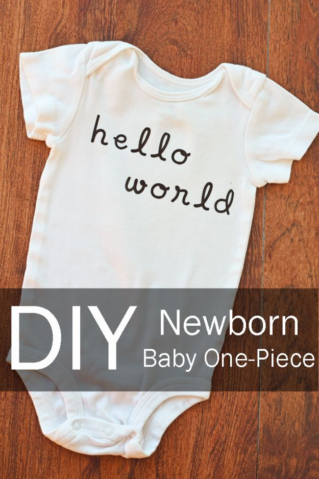 DIY Ideas for Newborn - Newborn Baby Onesie - Do It Yourself Projects for the New Baby Boy or Girl - Nursery and Room Decor, Gear and Products, Safety Ideas and Other Practical Items Make Great DIY Baby Gifts