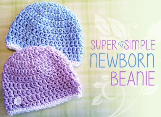 DIY Ideas for Newborn - Newborn Beanie Cover - Do It Yourself Projects for the New Baby Boy or Girl - Nursery and Room Decor, Gear and Products, Safety Ideas and Other Practical Items Make Great DIY Baby Gifts