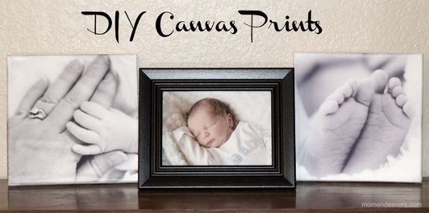DIY Ideas for Newborn - Newborn Canvas Prints - Do It Yourself Projects for the New Baby Boy or Girl - Nursery and Room Decor, Gear and Products, Safety Ideas and Other Practical Items Make Great DIY Baby Gifts