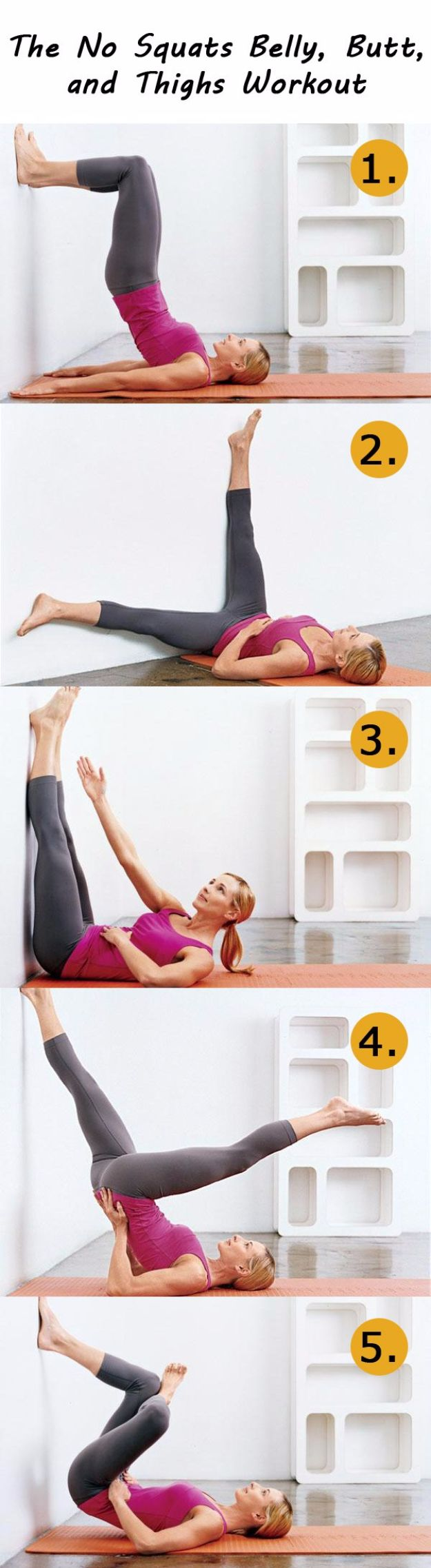 Best Quick At Home Workouts - No Squats Belly, Butt, and Thighs Workout - Easy Tutorials and Work Out Ideas for Strength Training and Exercises - Step by Step Tutorials for Butt Workouts, Abs Tummy and Stomach, Legs, Arms, Chest and Back - Fast 5 and 10 Minute Workouts You Can Do On Your Lunch Break, In Car, in Hotel #exercise #health
