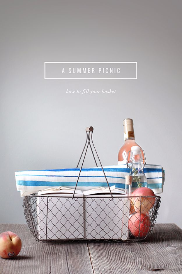 DIY Picnic Ideas - Pack A Picnic Basket Like A Pro - Cool Recipes and Tips for Picnics and Meals Outdoors - Recipes, Easy Sandwich Wraps, Blankets, Baskets and Carriers to Make for Fun Family Outings and Romantic Date Ideas - Mason Jar Drinks, Snack Holders, Utensil Caddy and Picnic Hacks