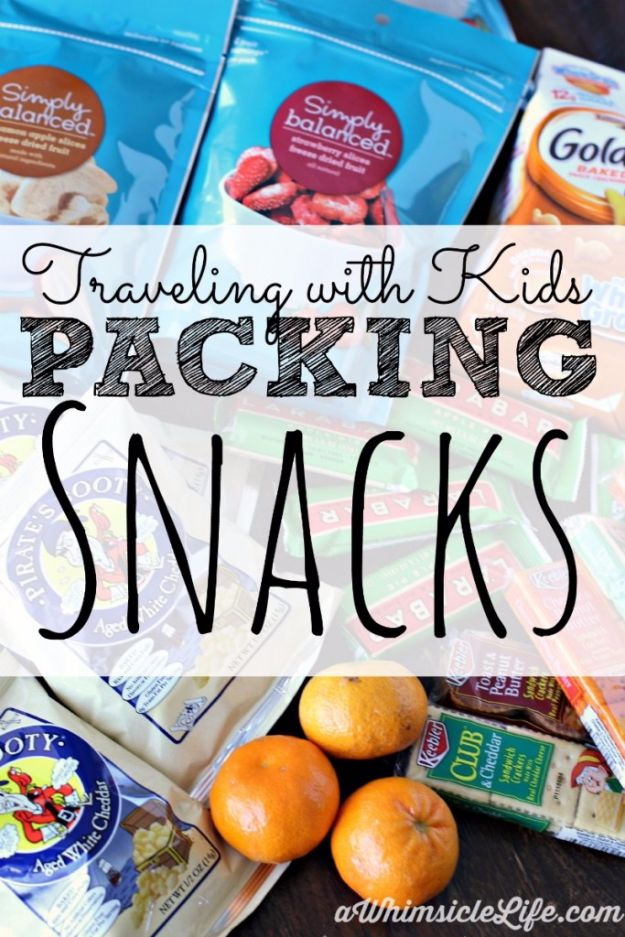 Packing Tips for Travel - Pack Snacks For Travel - Easy Ideas for Packing a Suitcase To Maximize Space - Tricks and Hacks for Folding Clothes, Storing Toiletries, Shampoo and Makeup - Keep Clothing Wrinkle Free in Your Bag http://diyjoy.com/packing-tips-travel