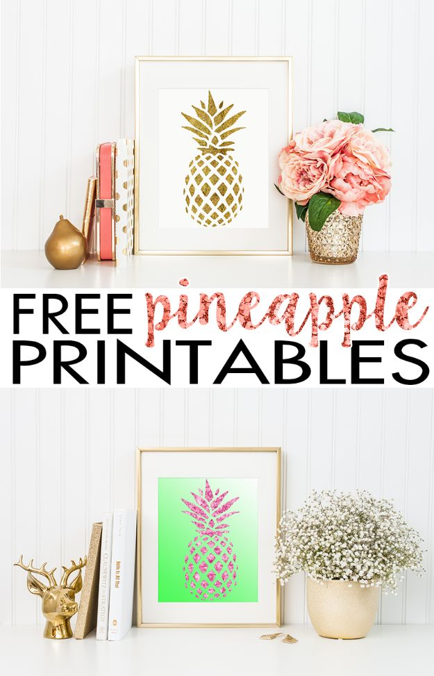 Best Free Printables For Your Walls   Pineapple Wall Art Free Printable    Free Prints For