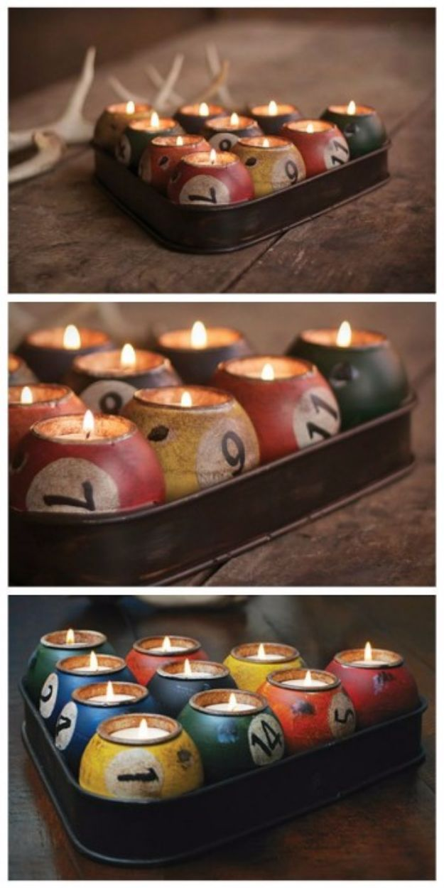 50 incredible mancave decor ideas that are something close to genius diy mancave decor ideas pool ball candles step by step tutorials and do it solutioingenieria Gallery