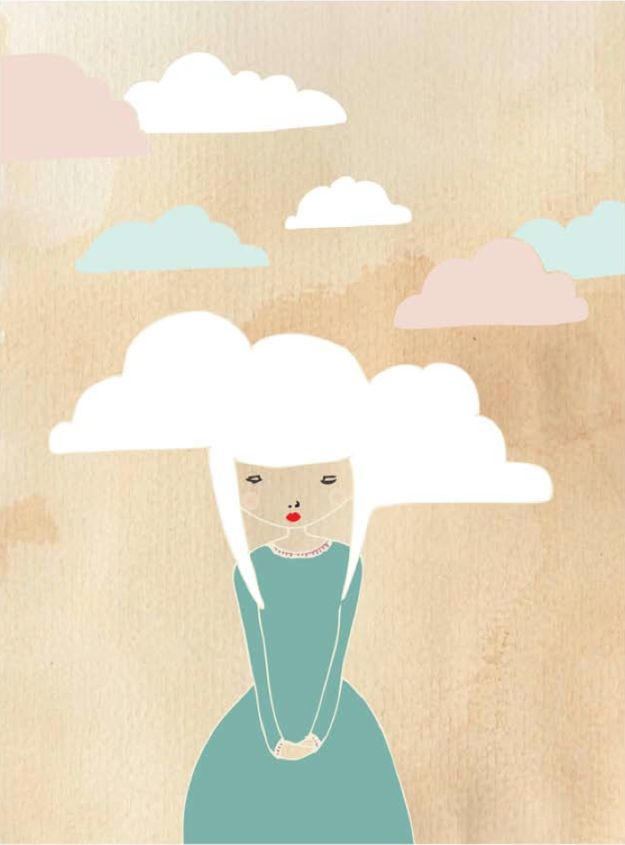 Free Printables For Your Walls - Pretty Cloud Princess Free Printable - Best Free Prints for Wall Art and Picture to Print for Home and Bedroom Decor - Ideas for the Home, Organization - Quotes for Bedroom and Kitchens, Vintage Bathroom Pictures - Downloadable Printable for Kids - DIY and Crafts by DIY JOY http://diyjoy.com/free-printables-walls
