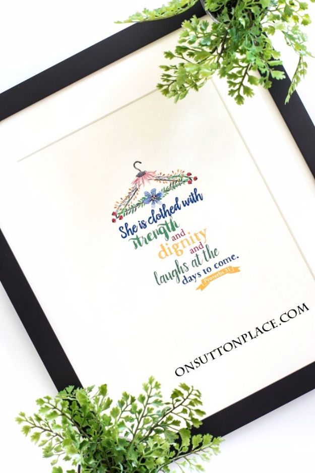 Best Free Printables For Your Walls - Proverbs 31 Free Original Printables - Free Prints for Wall Art and Picture to Print for Home and Bedroom Decor - Crafts to Make and Sell With Ideas for the Home, Organization - Quotes for Bedroom, Living Room and Kitchens, Vintage Bathroom Pictures - Downloadable Printable for Kids - DIY and Crafts by DIY JOY http://diyjoy.com/free-printables-walls