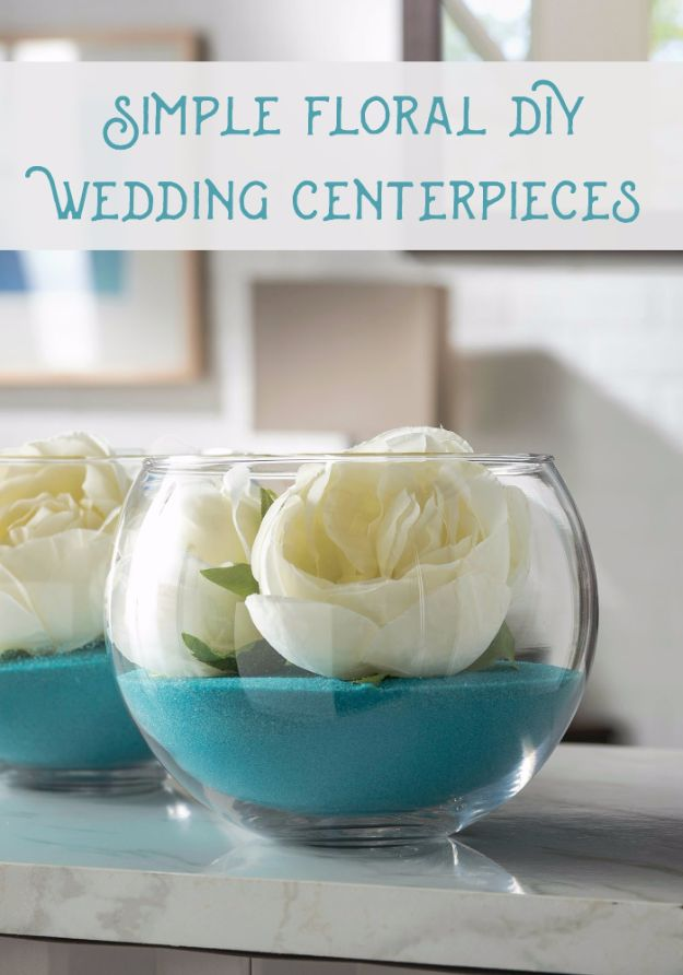 DIY Wedding Centerpieces - Quick Floral DIY Wedding Centerpieces - Do It Yourself Ideas for Brides and Best Centerpiece Ideas for Weddings - Step by Step Tutorials for Making Mason Jars, Rustic Crafts, Flowers, Modern Decor, Vintage and Cheap Ideas for Couples on A Budget Outdoor and Indoor Weddings http://diyjoy.com/diy-wedding-centerpieces