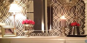 "Watch How She Transforms A Plain Closet Into An Old Hollywood ""Glam"" Dressing Room!"