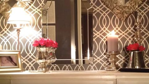 Watch How She Transforms A Plain Closet Into An Old Hollywood U201cGlamu201d  Dressing Room