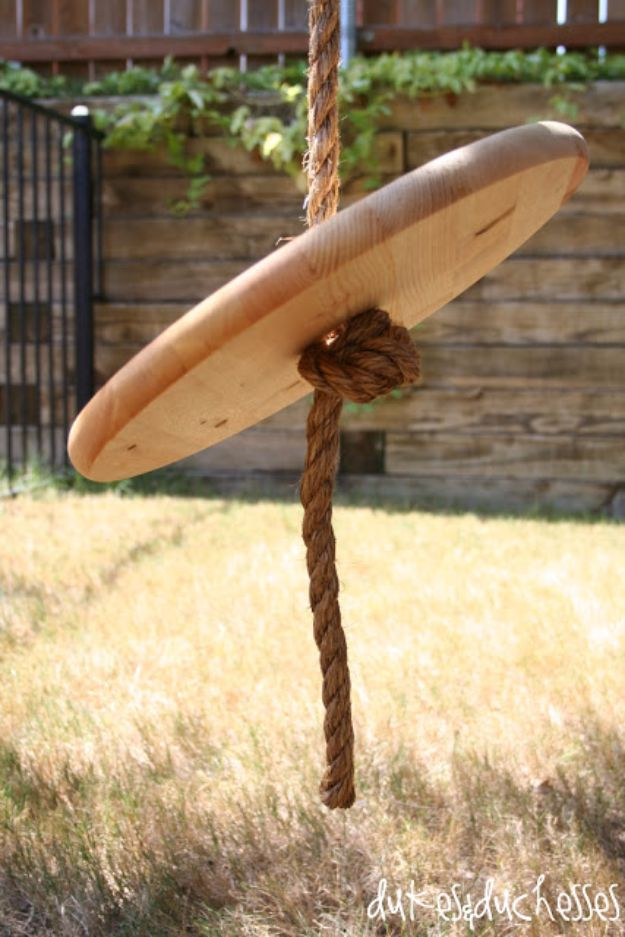 DIY Swings - Rope Swing - Best Do It Yourself Swing Projects and Tutorials for Tire, Rocking, Hanging, Double Seat, Porch, Patio and Yard. Easy Ideas for Kids and Adults - Make The Best Backyard Ever This Summer With These Awesome Seating and Play Ideas for Swings - Creative Home Decor and Crafts by DIY JOY