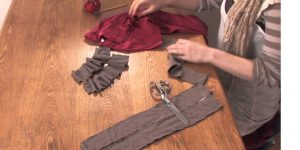 Watch How She Cleverly Repurposes Two T-Shirts Into One!