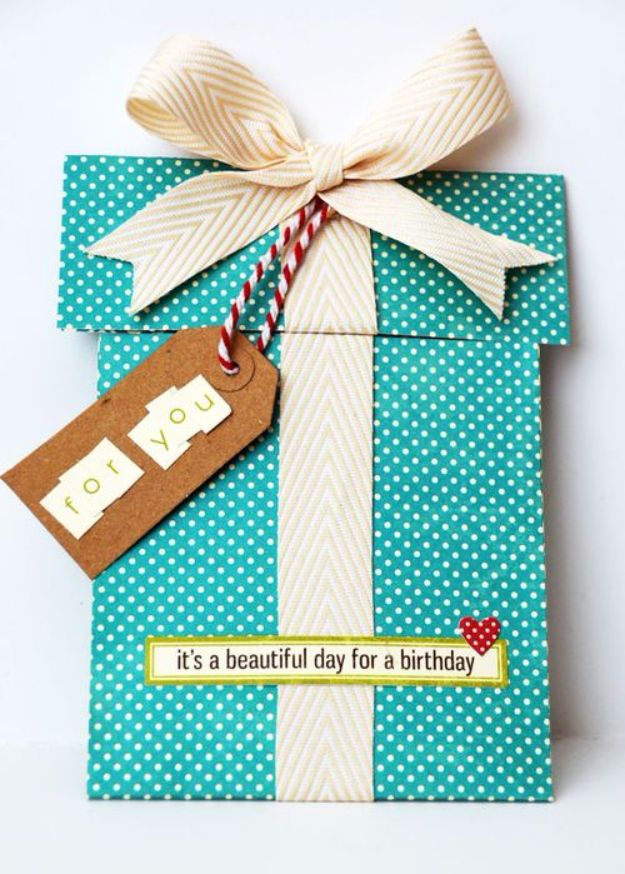 DIY Birthday Cards - Scrapbook Birthday Card - Easy and Cheap Handmade Birthday Cards To Make At Home - Cute Card Projects With Step by Step Tutorials are Perfect for Birthdays for Mom, Dad, Kids and Adults - Pop Up and Folded Cards, Creative Gift Card Holders and Fun Ideas With Cake