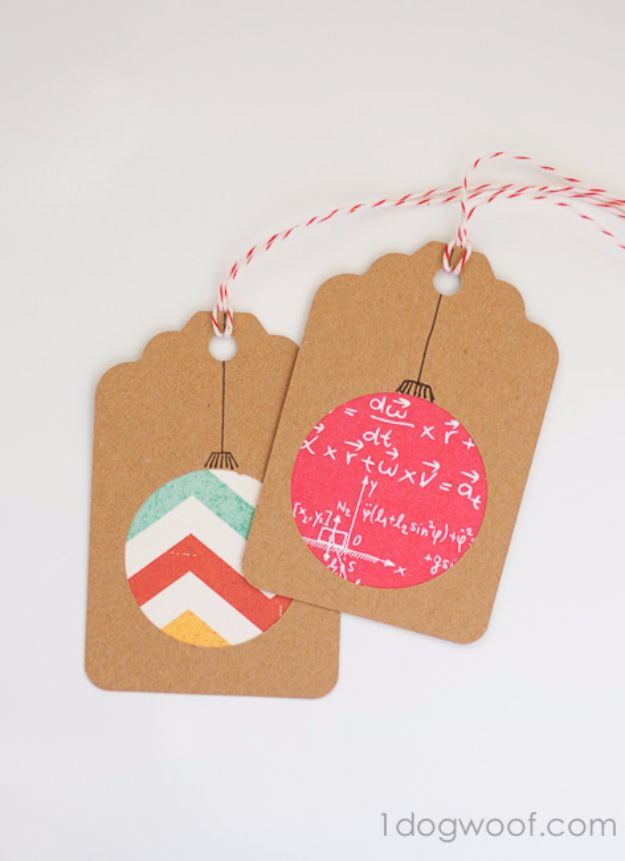 Homemade Gift Cards and Tags - Scrapbook Paper Gift Tags - Easy and Cheap Ideas for Creative Handmade Birthday, Christmas, Mothers Day and Father Day Cards - Cute Holiday Gift Tags, Dollar Store Crafts, Homemade DIY Gifts and Gift Card Holders You Can Make at Home - Fun Crafts for Adults, Kids and Teens #diygifts #gifttags