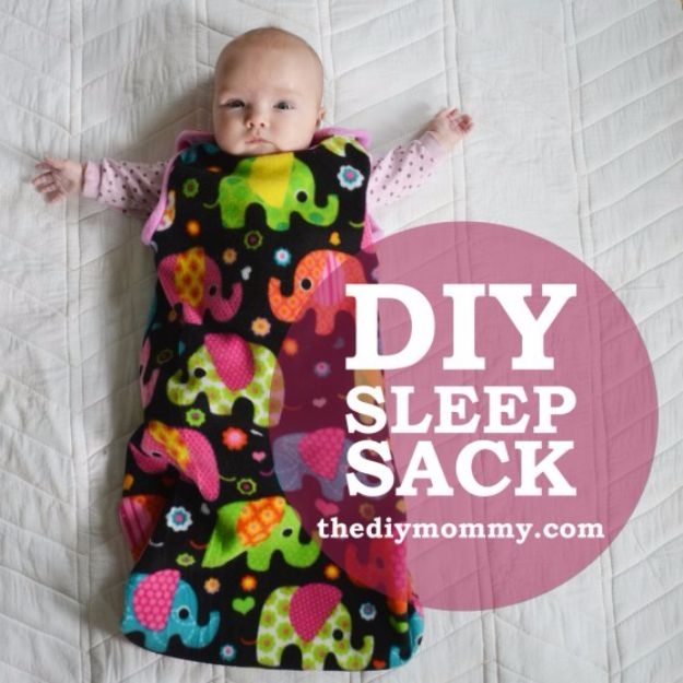 DIY Ideas for Newborn - Sleep Sack - Do It Yourself Projects for the New Baby Boy or Girl - Nursery and Room Decor, Gear and Products, Safety Ideas and Other Practical Items Make Great DIY Baby Gifts