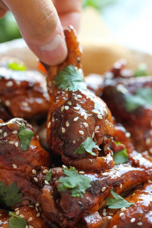 Healthy Crockpot Recipes to Make and Freeze Ahead - Slow Cooker Sticky Chicken Wings - Easy and Quick Dinners, Soups, Sides You Make Put In The Freezer for Simple Last Minute Cooking - Low Fat Chicken, beef stew recipe