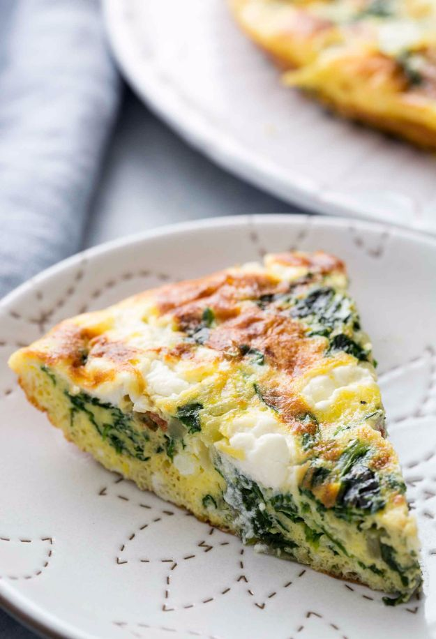 Best Spinach Recipes - Spinach Frittata - Easy, Healthy Lowfat Recipe Ideas for Dinner, Salads, Lunches, Sides, Smoothies and Even Dessert - Qucik and Creative Ideas for Vegetables - Cheesy, Creamed, Country Style Favorites for Family and For Kids http://diyjoy.com/best-spinach-recipes