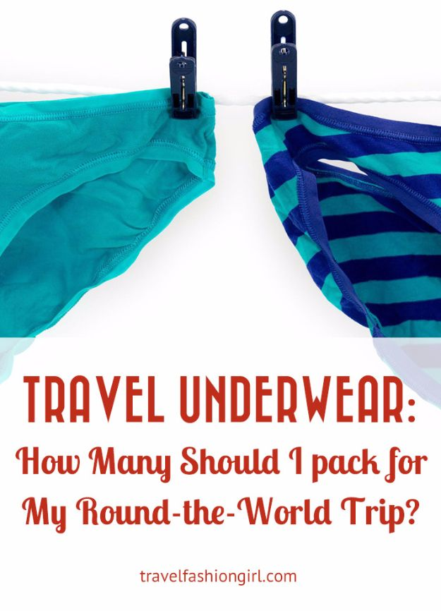Packing Tips for Travel - Travel Underwear Packing - Easy Ideas for Packing a Suitcase To Maximize Space - Tricks and Hacks for Folding Clothes, Storing Toiletries, Shampoo and Makeup - Keep Clothing Wrinkle Free in Your Bag http://diyjoy.com/packing-tips-travel