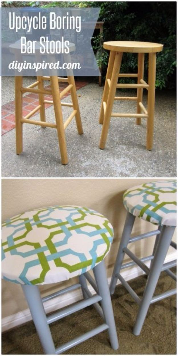 diy barstools - Upcycled Bar Stools - Easy and Cheap Ideas for Seating and Creative Home Decor - Do It Yourself Bar Stools for Modern, Rustic, Farmhouse, Shabby Chic, Industrial and Simple Classic Decor #barstools #diy