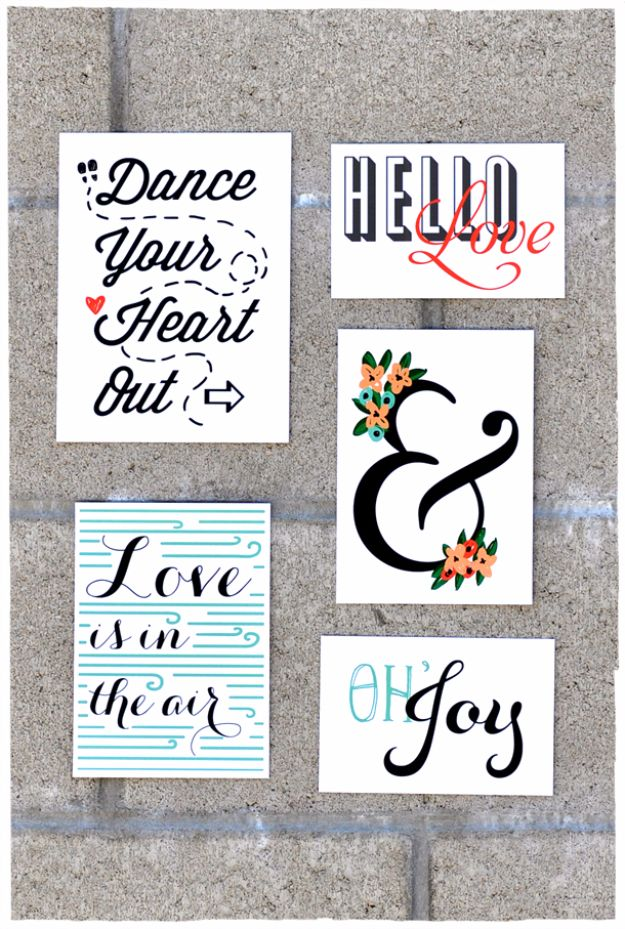 Best Free Printables For Your Walls - Wall Art Collage - Free Prints for Wall Art and Picture to Print for Home and Bedroom Decor - Crafts to Make and Sell With Ideas for the Home, Organization #diy