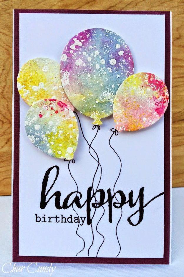 30 creative ideas for handmade birthday cards diy birthday cards watercolor birthday card easy and cheap handmade birthday cards to make bookmarktalkfo Gallery