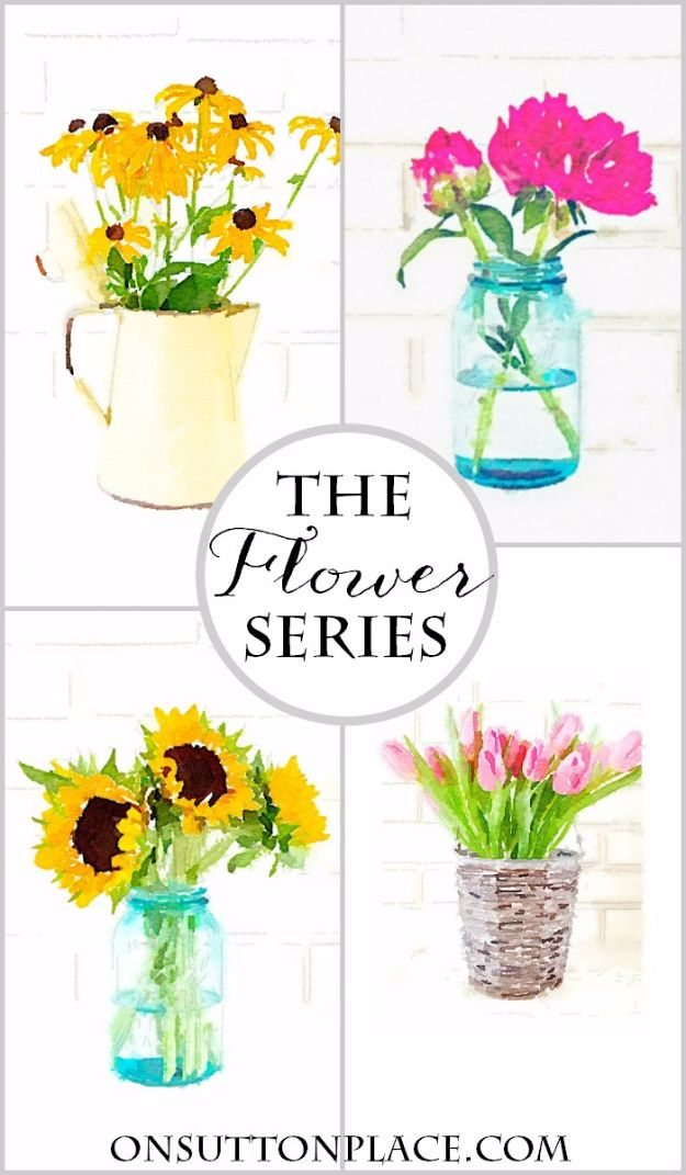 Best Free Printables For Your Walls - Watercolor Flower Printable Series - Free Prints for Wall Art and Picture to Print for Home and Bedroom Decor - Crafts to Make and Sell With Ideas for the Home, Organization #diy
