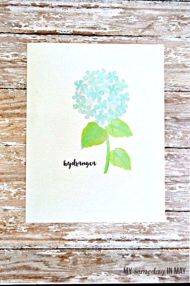 Best Free Printables For Your Walls - Watercolor Hydrangea Free Printable - Free Prints for Wall Art and Picture to Print for Home and Bedroom Decor - Crafts to Make and Sell With Ideas for the Home, Organization - Quotes for Bedroom, Living Room and Kitchens, Vintage Bathroom Pictures - Downloadable Printable for Kids - DIY and Crafts by DIY JOY http://diyjoy.com/free-printables-walls
