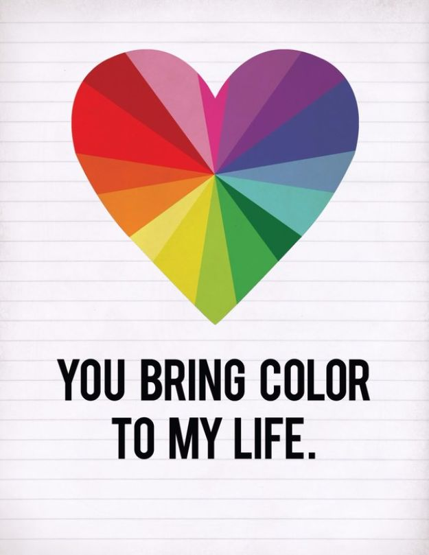 Best Free Printables For Your Walls - You Bring Color To My Life Free Printable - Free Prints for Wall Art and Picture to Print for Home and Bedroom Decor - Crafts to Make and Sell With Ideas for the Home, Organization #diy