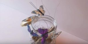 Who Doesn't Love Butterflies? Watch How She Makes Them Fly Out Of This Mason Jar!