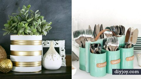 31 Creative DIY Ideas Made From Tin Cans | DIY Joy Projects and Crafts Ideas