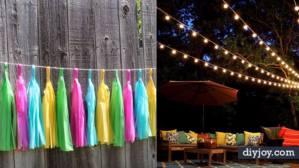 DIY Backyard Party Decor - Cool Ideas for Decorations for Parties - Easy  and Cheap Crafts - DIY Backyard Party Decor - Cool Ideas For Decorations For Parties