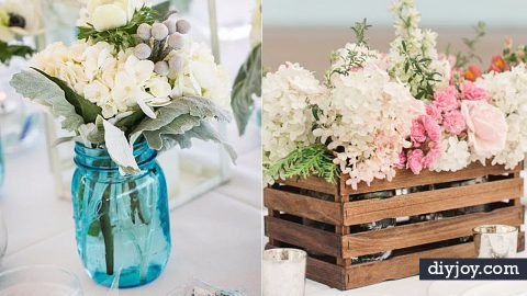 33 Best DIY Wedding Centerpieces You Can Make On A Budget | DIY Joy Projects and Crafts Ideas