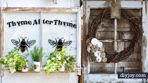37 Creative Ways To Make Things From Old Windows | DIY Joy Projects and Crafts Ideas