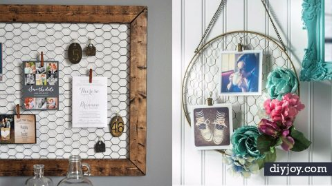 41 Genius Rustic Decor Ideas Made With Chicken Wire | DIY Joy Projects and Crafts Ideas