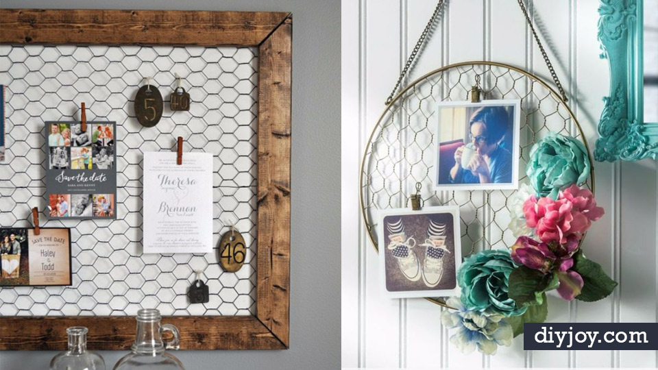 Genius Rustic Decor Ideas Made With Chicken Wire