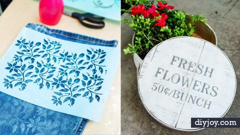 41 Super Cool Ideas Made With Stencils | DIY Joy Projects and Crafts Ideas