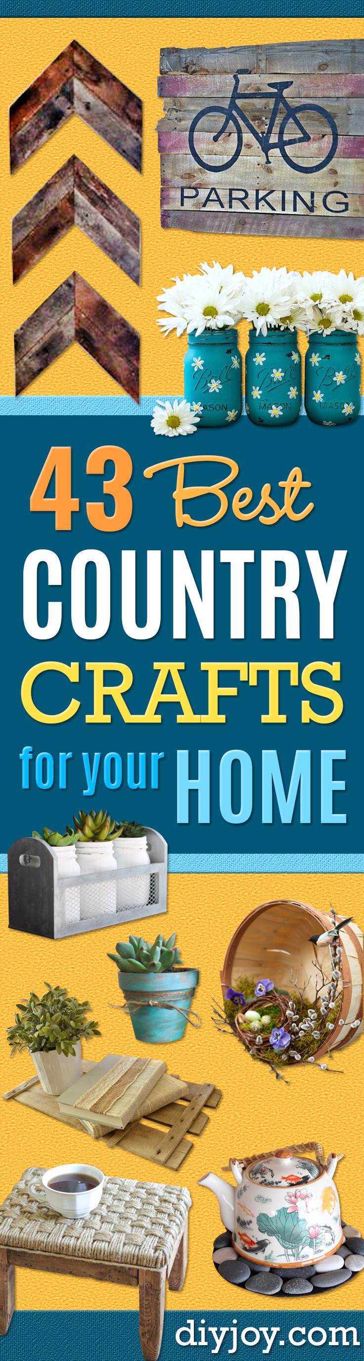43 best country crafts for your home for Country craft house