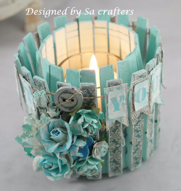 DIY Ideas With Old Tin Cans - Altered Tin Can With Clothespins - Rustic Farmhouse Decor Tutorials and Projects Made With An Old Tin Can - Easy Vintage Shelving, Wall Art, Picture Frames and Home Decor for Kitchen, Living Room and Bathroom - Creative Country Crafts, Craft Room Storage, Silverware Holder, Rustic Wall Art and Accessories to Make and Sell
